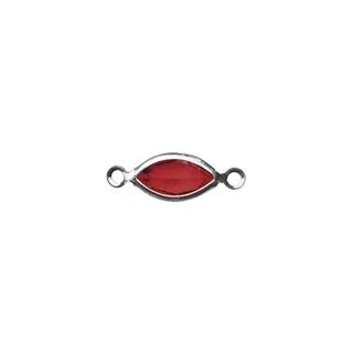 Accessoires bijoux Swarovski ovale, 2 oeuillets, 17 mm rouge classique
