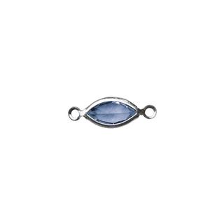 Accessoires bijoux Swarovski ovale, 2 oeuillets, 17 mm bleu royal
