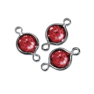 Accessoires bijoux Swarovski rond, 2 oeuillets, 11 mm rouge classique