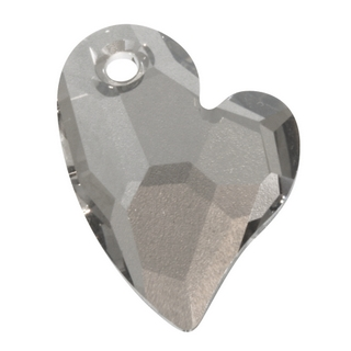 Breloque Swarovski cristal facette  17mm Devoted 2 U Heart gris acier