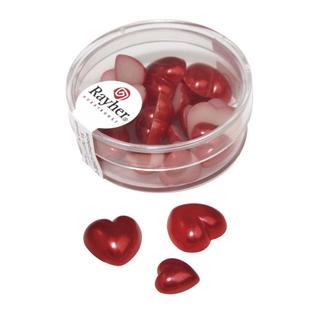 Coeur en plastique, 2 tailles 8x1,5 cm, 16x1,0 cm rouge