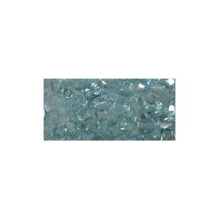 Perle facettee en verre, 3 mm ø irisee turquoise