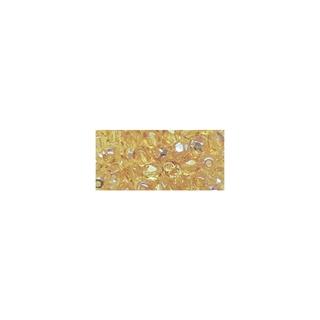 Perle facettee en verre, 4 mm ø irisée topaze