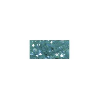 Perle facettee en verre, 4 mm ø irisée émeraude