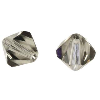 Perles cristal Swarovski 3 mm bte. de 50 pces gris argente