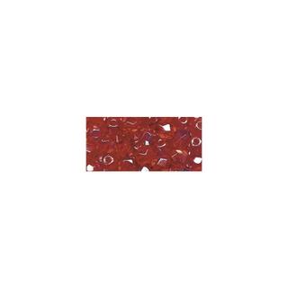 Perles transparentes en verre depolis 6 mm ø Irisees rubis