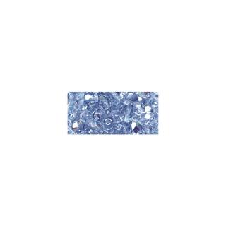 Perles transparentes en verre depolis 6 mm ø Irisees aigue-marine