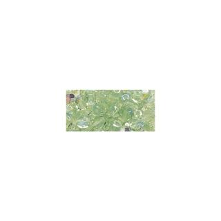 Perles transparentes en verre depolis 6 mm ø Irisees jaspe