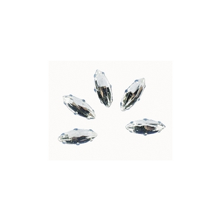 Pierres strass, 12x4 mm, ovales cristal
