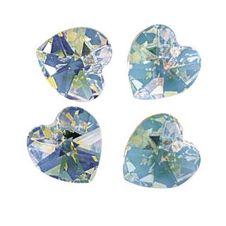 Swarovski Coeur cristal 10,3x10 mm aurore boreale