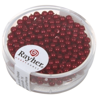 Perles de cire, 3 mm ø rouge