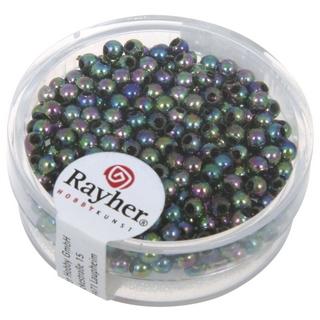 Perles de cire, 3 mm ø noir irise
