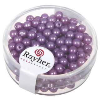 Perles de cire, 4 mm ø lilas fonce
