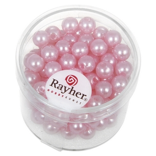 Perles de cire, 6 mm ø rose