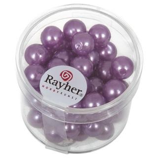 Perles de cire, 8 mm ø lilas fonce