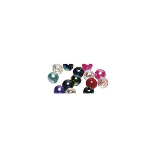 Perles en cire, 3mm ø assorties,