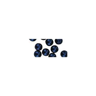 Perles en cire, 4mm ø bleu fonce,