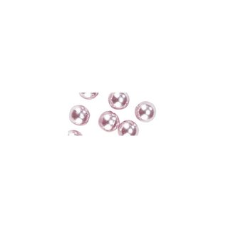 Perles en cire, 4mm ø rose,