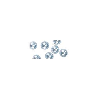 Perles en cire, 6mm ø bleu clair,