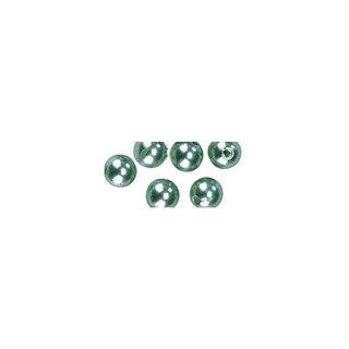 Perles en cire, 6mm ø vert clair,