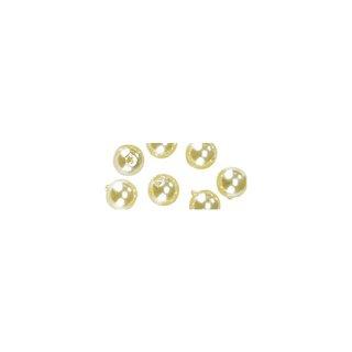 Perles en cire, 6mm ø jaune,