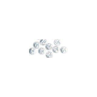 Perles en cire, 6mm ø iris, blanc,