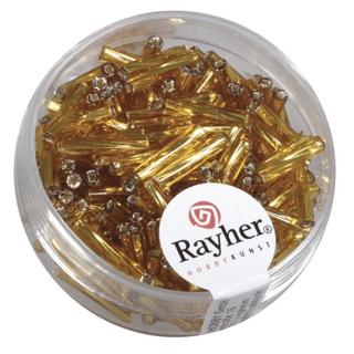 Chevilles en verre, twistet, 12 mm avec garniture argent or