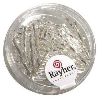 Chevilles en verre, twistet, 25 mm argent