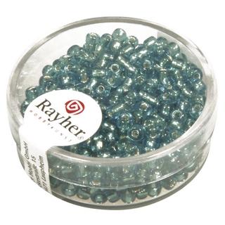 Rocailles,2,6 mm ø,av,garniture d'argent turquoise
