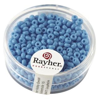 Rocailles, 2,6 mm ø, opaques bleu clair
