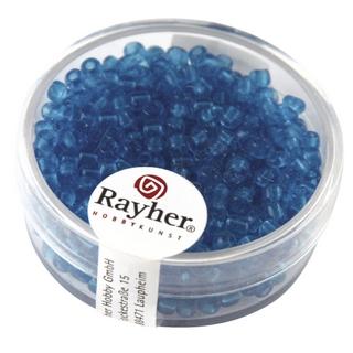 Rocailles, 2,6 mm ø, transparentes turquoise