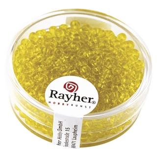 Rocailles, 2,6 mm ø, transparentes jaune