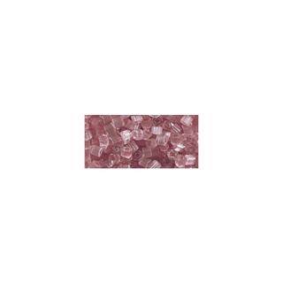 Chevilles en verre, transparent, 2x2 mm rose ancien