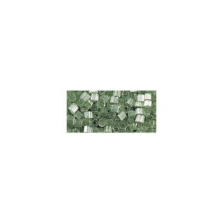 Chevilles en verre, transparent, 2x2 mm vert antique