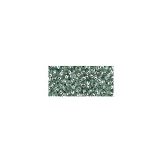 Rocailles, avec garniture d'argent, 2,6 mm ø jade