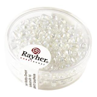Rocailles avec garniture d'argent, 4 mm cristal