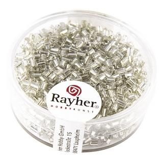 Chevilles en verre av,garniture d'argent 2x2 mm argent
