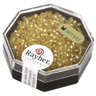 Premium-rocailles, 2,2 mm ø garniture d'argent, givre ombre or