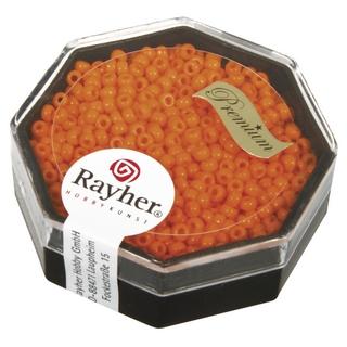 Premium-rocailles, 2,2 mm ø opaque orange capri, boîte 8 g