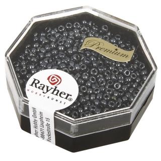 Premium-rocailles, 2,2 mm ø metallic anthracite, boîte 8 g