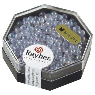 Miyuki-Perle-Drop, transparente, arc en ciel, 3,4 mm lilas tendre