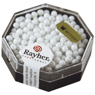 Miyuki-Perle-Drop, opaque ø 3,4 mm blanc