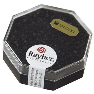 Delica-rocailles, 2,2 mm ø metallic depoli noir