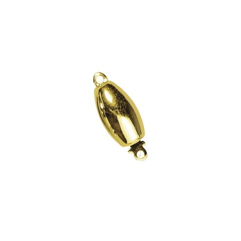 Fermoir bijou 11,7x6,4mm, ovale, lisse 1rang sans nickel,pce dore