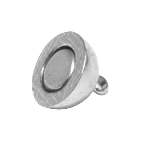 Fermoir magnetique, extra fort ø 10 mm, sans nickel, pièce argente