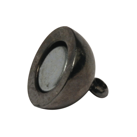 Fermoir magnetique, extra fort ø 10 mm, sans nickel, pièce anthracite