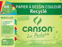 CANSON Papier à dessin recyclé, blanc, 240 x 320mm, 160 g/m2 pack
