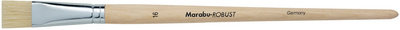 Marabu Pinceau-brosse Robust, plat, taille 6 pce.