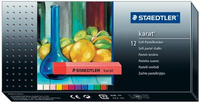 STAEDTLER craies pastels tendres karat, étui en carton de 12 bte.