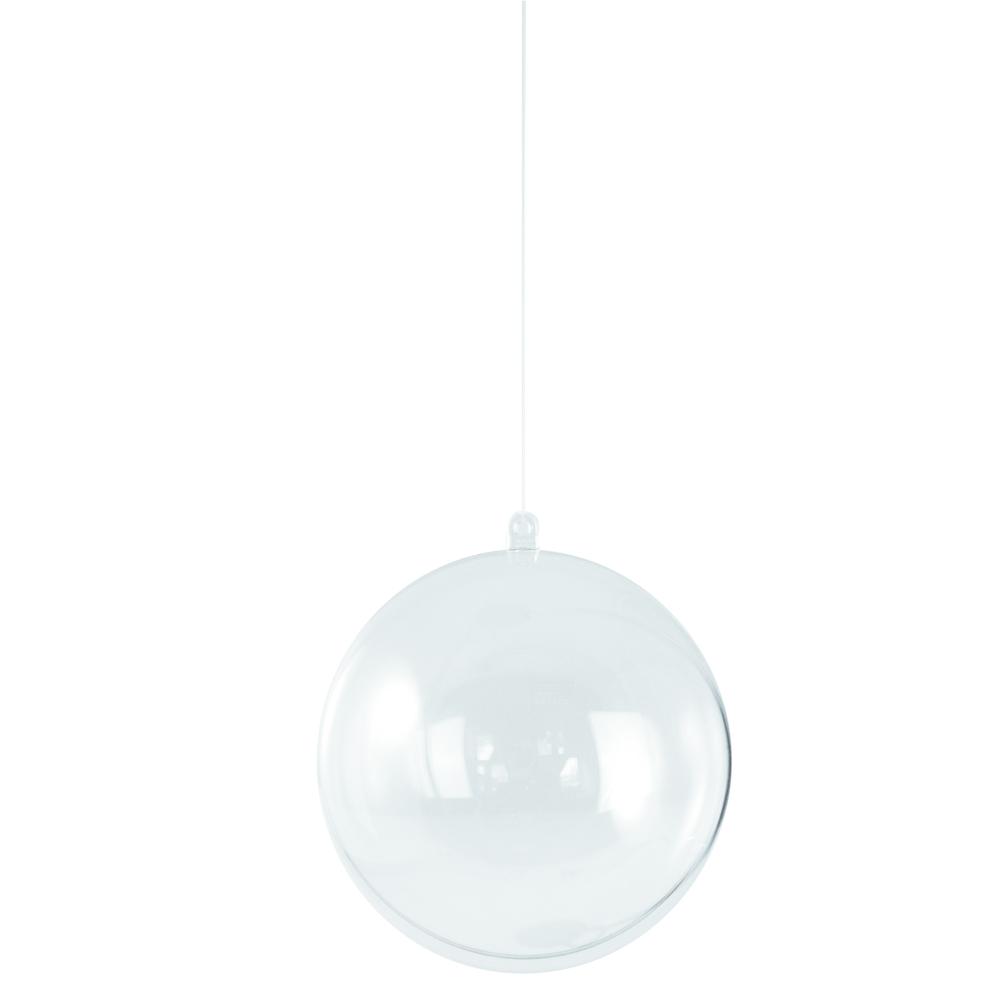 Boule en plastique,  2 parties, 16 cm ø